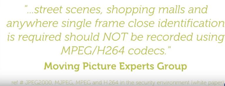 security camera image quality h264